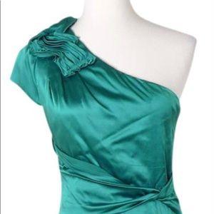 Elie Tahari Green Silk Cocktail dress